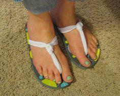 DIY Flip Flops - Pinching Your PenniesPinching Your Pennies