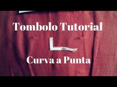 Tombolo Tutorial | Angolo a Punta - YouTube