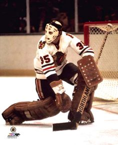 Tony Esposito BLACKHAWKS CLASSIC Poster Print (c.1971) - Chicago Blackhawks Hockey - Photofile Inc.