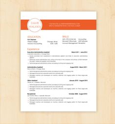 Resume Template / CV Template - The Jane Walker Resume Design - Instant Download