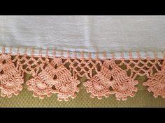 Crochet Stitches For Blankets, Thread Crochet, Filet Crochet, Knitted Blankets, Crochet Boarders, Crochet Edging Patterns, Crochet Decoration, Chrochet, Crochet Projects