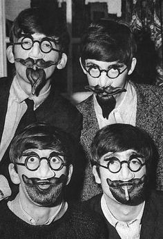 The Beatles funny faces, c. 1960s - vintage everyday