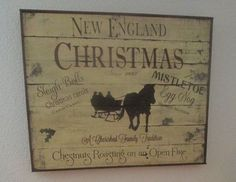 New England Christmas primitive sign from old wood Christmas In England, Old World Christmas, Primitive Christmas, Country Christmas, All Things Christmas, Holiday Signs, Christmas Signs, Christmas Crafts, Merry Christmas