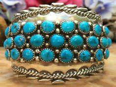 Kingman Turquoise, Turquoise Bracelet, Tribal Jewelry, Navajo, Native American, Ethnic, Jewellery, Bracelets, Ebay