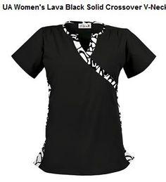 black print scrub top from www.uniformadvantage.com