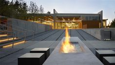portable contemporary fireplace outdoor - Google Search