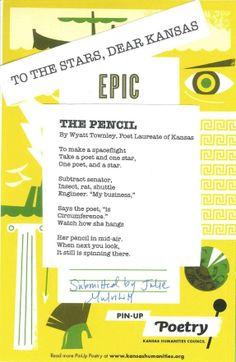 """""""The Pencil"""" by Wyatt Townley, Poet Laureate of Kansas"""