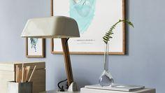 Pigment - Boråstapeter Desk Lamp, Table Lamp, Wall Colors, Sconces, Wall Lights, Interior Design, Lighting, Wallpaper, House