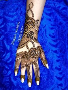 50 Most Attractive Rose Mehndi designs to try - Wedandbeyond