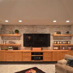 basement tv walls - Google Search