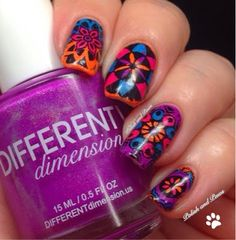 Nail Art ~ Kaleidoscope Nails