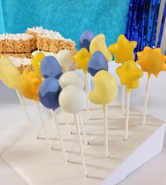 Weather cake pops! By Morsels Party Planning.