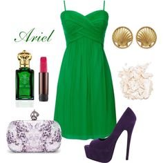 """""""Ariel Disney Princess Girls Night out / Date Night / Prom Outfit"""" by natihasi on Polyvore"""