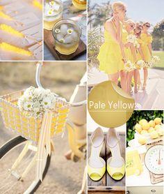 pale yellow inspired 2014 spring and summer wedding color ideas #weddingcolors #yellowwedding #옐로웨딩 #웨딩컬러