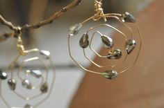 Swirled Hoop Earrings by WearableArtByAbrilla on Etsy, $45.00