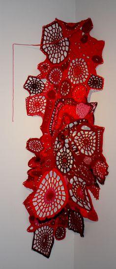 Mortas series... Freeform crochet, scrumble  crochet art, crochet. scrumble, yarn, fiber art, artist