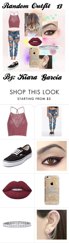 """Random Outfit 13"" by kiara-garcia ❤ liked on Polyvore featuring Glamorous, Vans, Lime Crime, Agent 18 and Otis Jaxon"