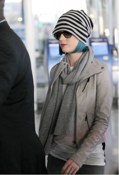 One lottery win should do it!  Katy Perry in J Brand Ready-to-wear Benatar leather jacket