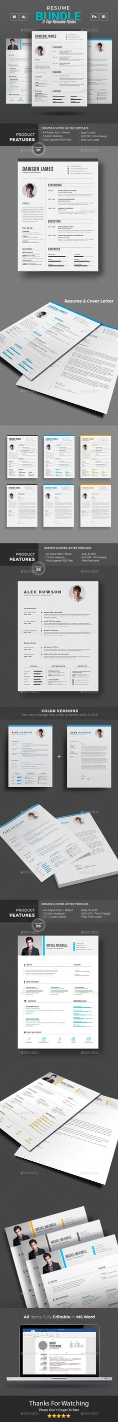 Stunning 3 resume template in one. College Resume Template, Simple Resume Template, Resume Design Template, Creative Resume Templates, Creative Cv, Stationery Templates, Stationery Design, Best Cv Template, Resume Words Skills