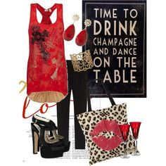 Drink Champagne, created by charlotte-bilton-carver on Polyvore