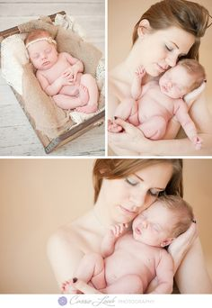 Beautiful newborn photography of mother and baby