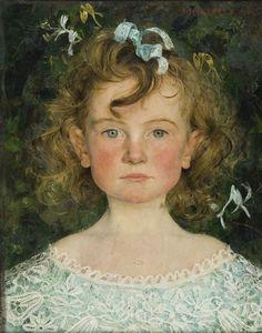 Edgar Maxence 1871-1954 - Portrait of Juliette, the artist's daughter
