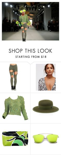 """""""Untitled #89"""" by rosshandmadecrafts on Polyvore featuring Free People, Maison Michel, Burberry, ZeroUV and Catherine Catherine Malandrino"""
