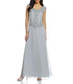 5e3e055f85599 Jkara CapSleeve Floral Beaded Bodice Gown #Dillards Ceremony Dresses, Prom  Dresses, Formal Dresses