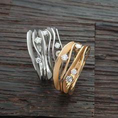 Ringe aus der Dune-Kollektion von Annamaria Cammilli