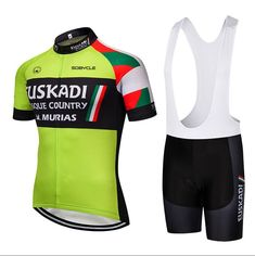 2019 Green euskadi team Summer Pro sporting Racing UCI world tour cycling  jersey 9D Bike shorts bc71fa630