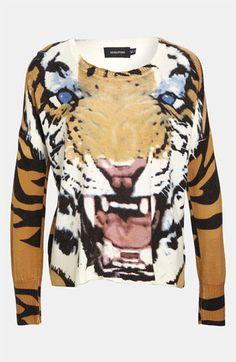 Mink Pink 'Roar' Print Pullover available at #Nordstrom