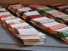 Excellent tutorial for Postage Stamp Quilt - includes bed size measurements. The best tutorial I've seen   ~ Cheryl