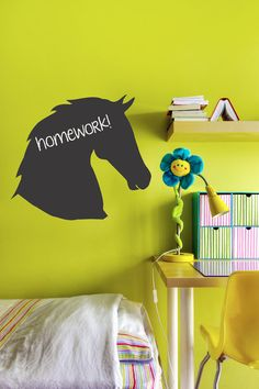 Hey, I found this really awesome Etsy listing at https://www.etsy.com/listing/181482235/horse-chalkboard-vinyl-decal-equestrian