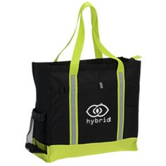 """""""I really like the new Big Event Tote. The zippered main compartment is nice and roomy. I love all the pockets. They make things quick and easy to get at."""" Lexie with 4imprint 1 year"""