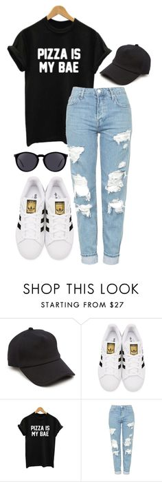 """Untitled #16"" by hayleighoaks917 on Polyvore featuring rag & bone, adidas Originals, WithChic, Topshop and Yves Saint Laurent"