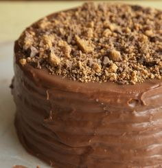 Two amazing worlds colliding: Peanut Butter Hot Fudge Cake http://www ...