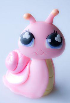 cute snail | Cute pink snail cake topper.PNG