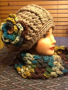 Super chunky slouchy with matching cowl.