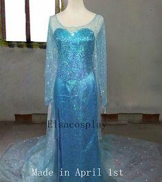 Deluxe Style - Elsa Dress, Elsa Costume, Elsa Cosplay, Queen Elsa Dresses, Adult/Kids Size