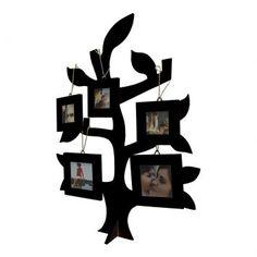 Painel Árvore Da Família Para Parede Preto