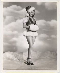vintage everyday: 30 Vintage Hollywood Starlet Christmas Pin-up Photos Janis Page Vintage Hollywood, Old Hollywood Stars, Classic Hollywood, Christmas Past, Vintage Christmas, Christmas Photos, Xmas, Christmas Girls, Black Christmas