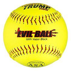 Half Dozen Evil Ball ASA 12″ Softballs 44 cor 375 Compression MP-EVIL-ASA-Y-2 HOT Technology 6 Balls Looking slow pitch softball pitching machines pictures? - http://homerun.co.business/product/half-dozen-evil-ball-asa-12-softballs-44-cor-375-compression-mp-evil-asa-y-2-hot-technology-6-balls/
