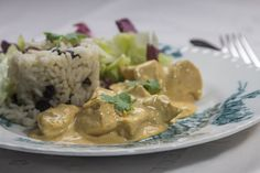 The authentic recipe of Queen Elizabeth's formal dish at her coronation in Coronation chicken with light curry-mayonnaise sauce. Family Meals, Curry, Dishes, Chicken, Meat, Recipes, Food, Curries, Tablewares