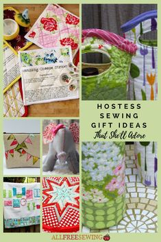 Make hostess sewing gifts she'll adore with these awesome DIY ideas.