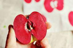 fruit + veggie stamping craft