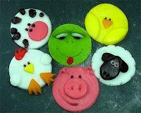 Viva la Creatività!: Decorazione: Animaletti copri CupCake in Pdz - Animales por CupCake fondant - Animals for CupCake