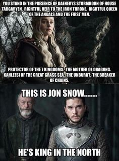 Game of Thrones | Daenerys and Jon Snow ~ lmfao soo funny. fucking Davos