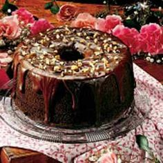 Chocolate Chiffon Cake- Lite and delicious. Not super chocolate and not real rich. Beautiful cake though.