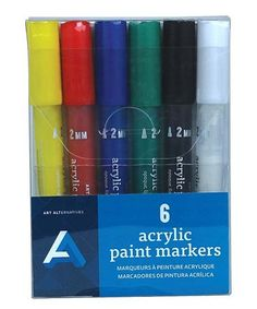 This 6-Ct. Acrylic Markers is perfect! #zulilyfinds