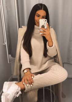 Trend and Stylish! 15 Combination of Knit Suit For Winter Trend and Stylish! 15 Combination of Knit Suit For Winter FASHIONFEZT fashionfeztcom Women Fashion Winter Fashion Outfits, Fall Winter Outfits, Autumn Fashion, Casual Winter, Pastel Outfit, Fashion Mode, Look Fashion, Womens Fashion, Lounge Outfit